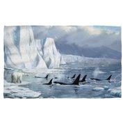 Wild Wings Glacier'S Edge 2 Beach Towel White 36X58