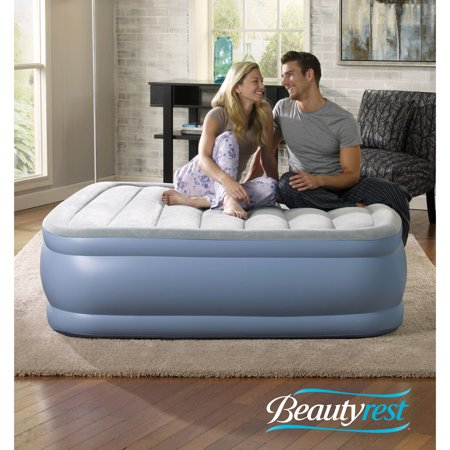 Beautyrest Hi Loft Raised Air Bed Mattress with Express Pump, Multiple Sizes, 1