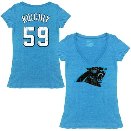 Luke Kuechly Carolina Panthers Tri-Blend Name & Number T-Shirt - - Kuechly Halloween