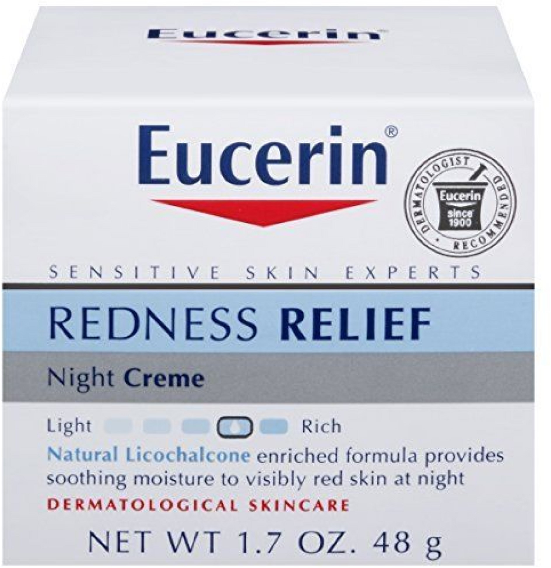 Eucerin Redness Relief, Night Creme 1.70 oz (Pack of 2)