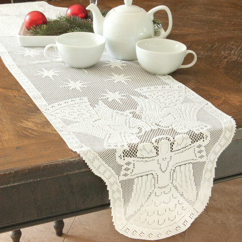 Heritage Lace Glorious Angel Table Runner