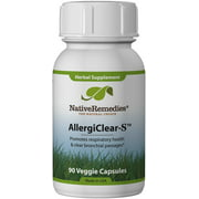 NativeRemedies AllergiClear-S Vegetable Capsules, 90 Ct