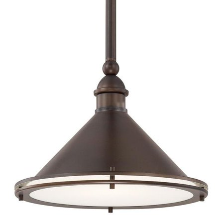 Capital Lighting Langley   One Light Pendant  Burnished Bronze Finish With Frosted Glass