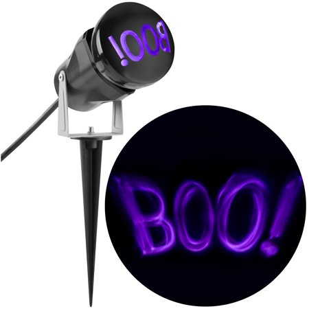 Lightshow Projection ShadowWaves Boo (Purple) by Gemmy Industries](Halloween Projection)