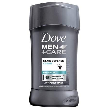 Dove Men+Care Stain Defense Antiperspirant Deodorant Stick, Clean, 2.7 (Best Men's Deodorant No Stain)