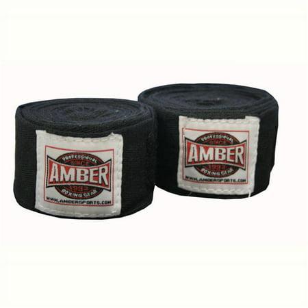 """Image of 120"""" Junior Regular Cotton Handwraps Black"""