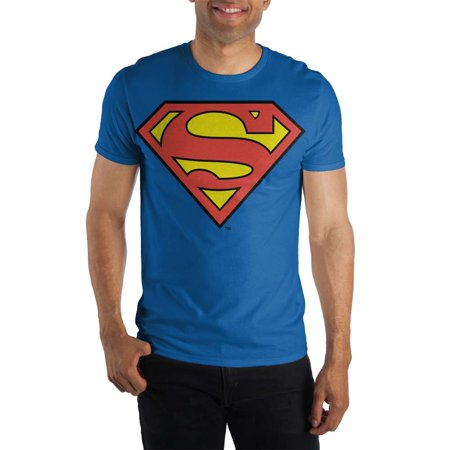 DC Comics Superman Big Logo Mens Navy T Shirt