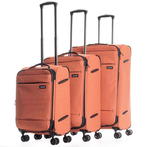 CalPak Castlegate Lightweight 3-Piece Spinner Luggage Set Red