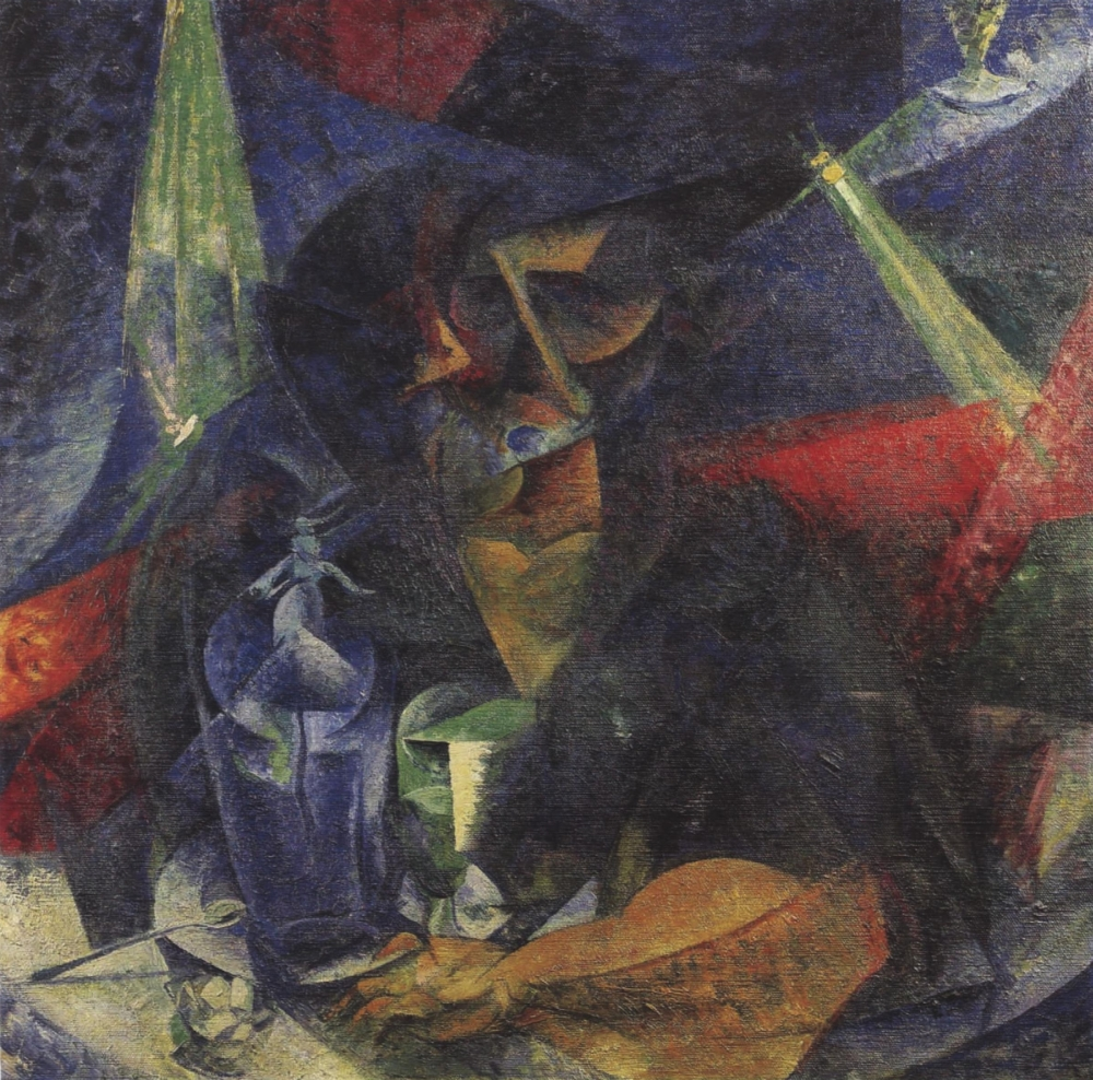 Woman in Cafe 1912 Poster Print by  Umberto Boccioni