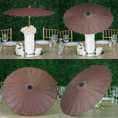 "Efavormart 28"" Chocolate Paper Parasol Umbrella for DIY Wedding Centerpieces Arrangements Birthday Party Home Decoration"