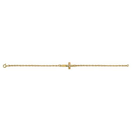Landstroms Black Hills Gold 10k Sideways Cross Bracelet, 12K Gold -
