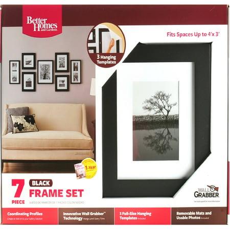 Better Homes Black 7-Piece Wall Frame Set - Walmart.com