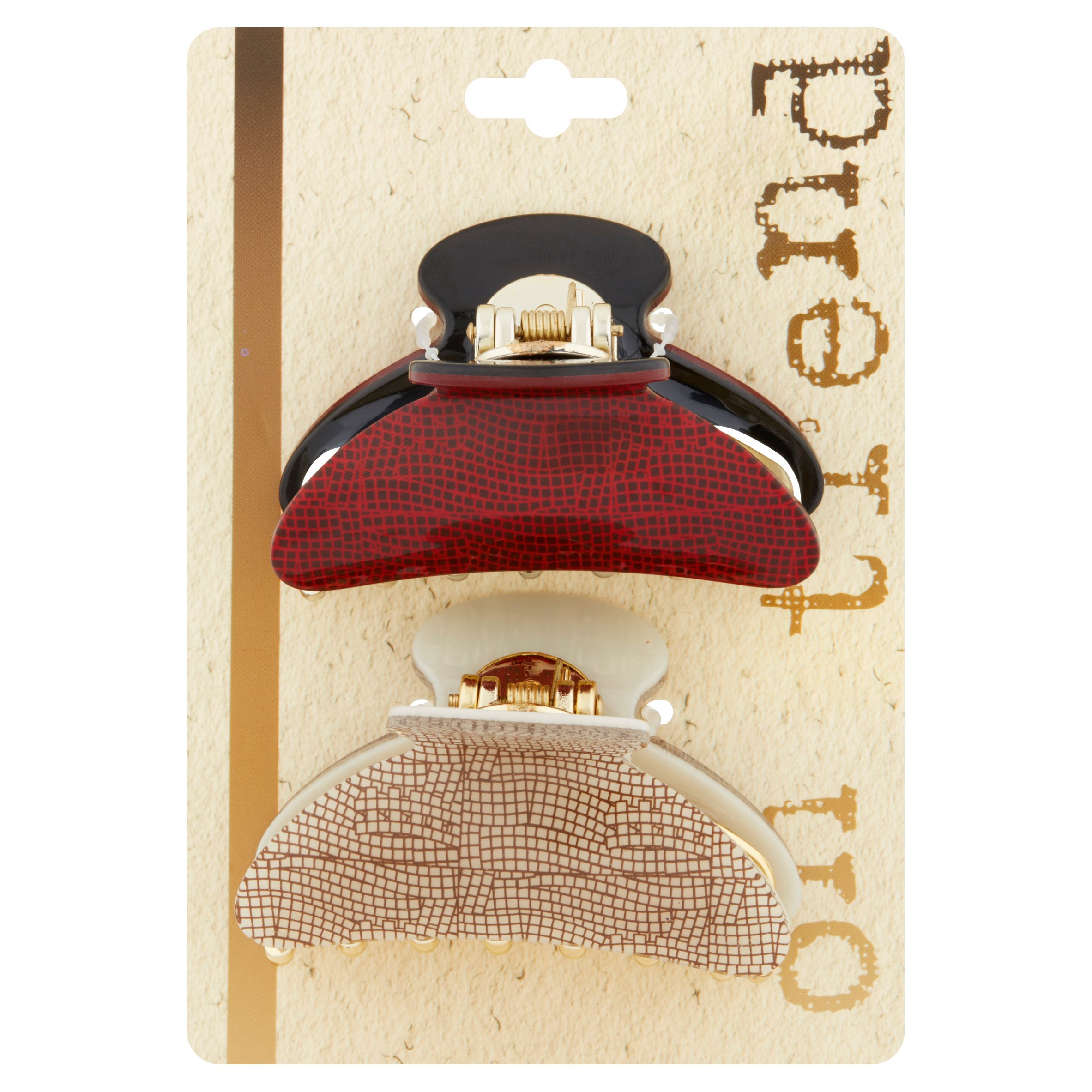 On Trend Large Fashion Jawclips, 2 count
