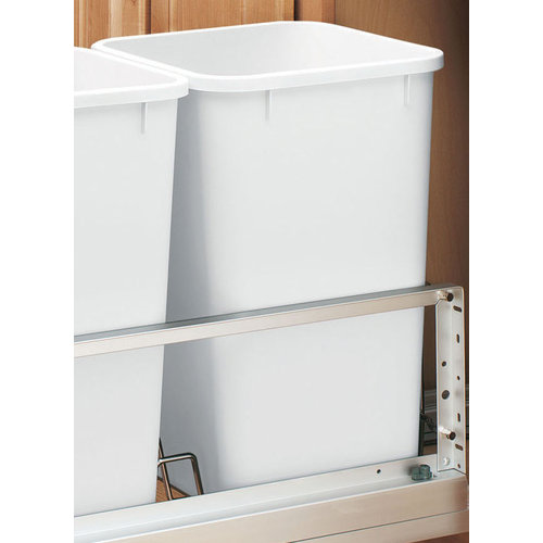 Rev-A-Shelf  RV-1024-52  Trash Can Accessories  RV  Trash Cans  Replacement Trash Cans  ;White