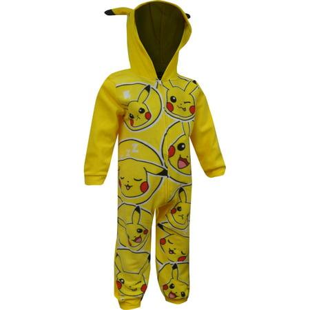 Pokemon Pikachu Blanket Sleeper Pajama With Hood