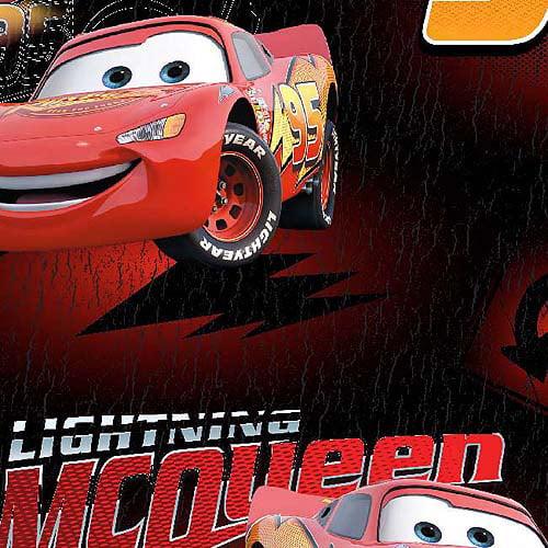 Creative Cuts Fleece Fabric, Disney Cars McQueen is Lightning, Red