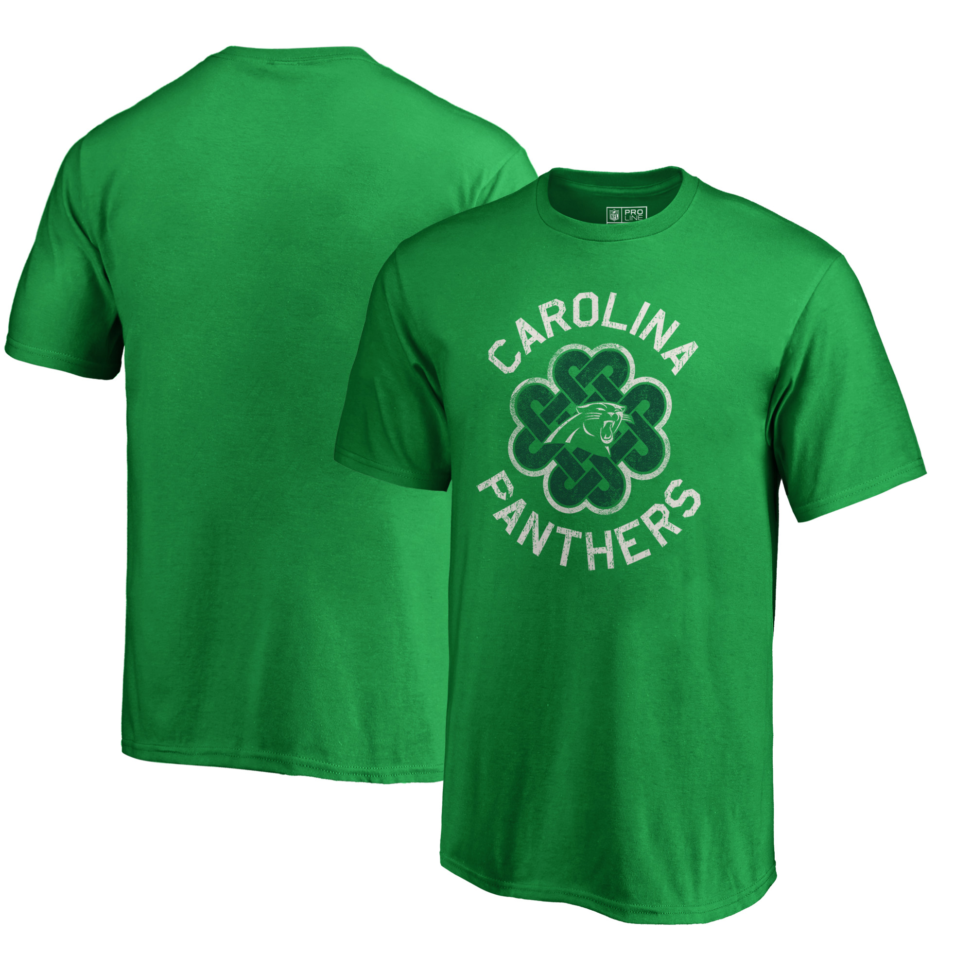 Carolina Panthers NFL Pro Line by Fanatics Branded Youth St. Patrick's Day Luck Tradition T-Shirt - Kelly Green