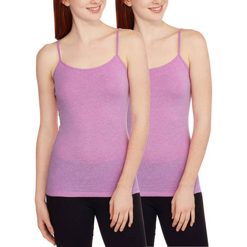 No Boundaries Juniors' Essential Knit Cami, 2-Pack Value Bundle (Only $1.68 each)