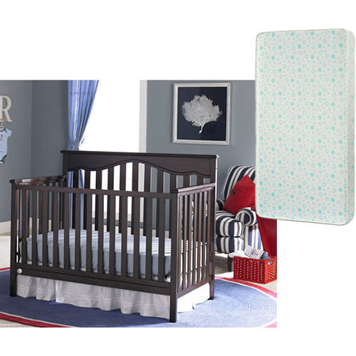 Fisher-Price Ayden 4-in-1 Convertible Crib and Mattress Value Bundle