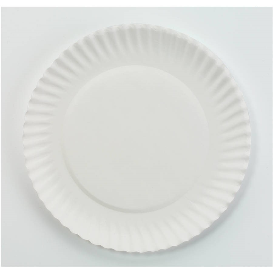 """Nature's Own Green Label Paper Plates, 6"""", White, 100 Ct"""
