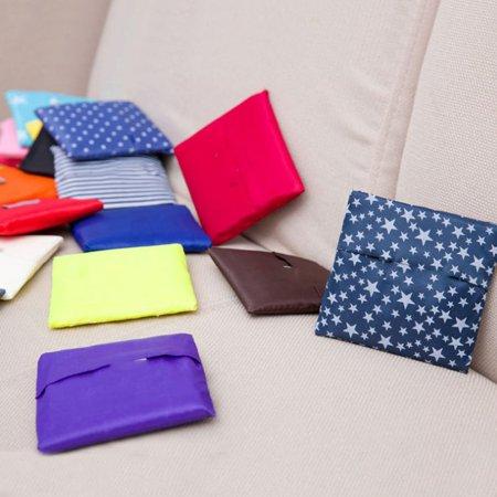 Fashion Foldable Design Nylon Shopping Bag Eco-Friendly Reusable Handle Bag - image 4 of 8