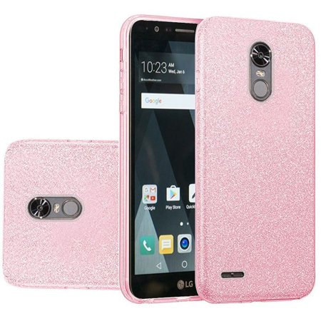 sneakers for cheap 931ac e7045 LG Stylo 3 Case, LG Stylo 3 Phone Case, by Insten Glitter Hybrid Clear Hard  PC/TPU Dual Layer Case Cover For LG Stylo 3 - Pink
