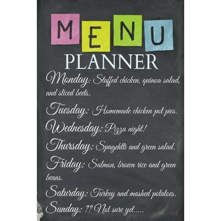 Hardback Menu Covers (Menu Planner: Plan Your Weekly Menu for up to 2 Years!! Great Value! (Paperback) )