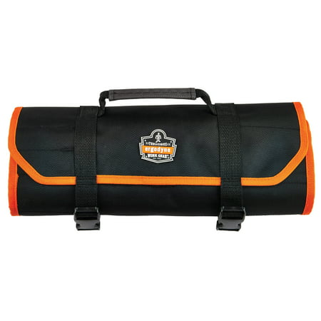 Ergodyne Arsenal 5871 Tool Roll-Up Pouch, 21-Pockets, Polyester, Black