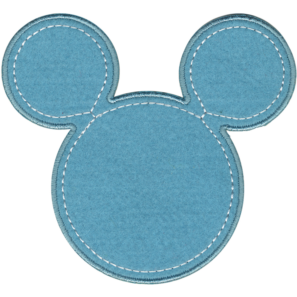 Disney Mickey Mouse Mickey Blue Silhouette Iron-On Applique