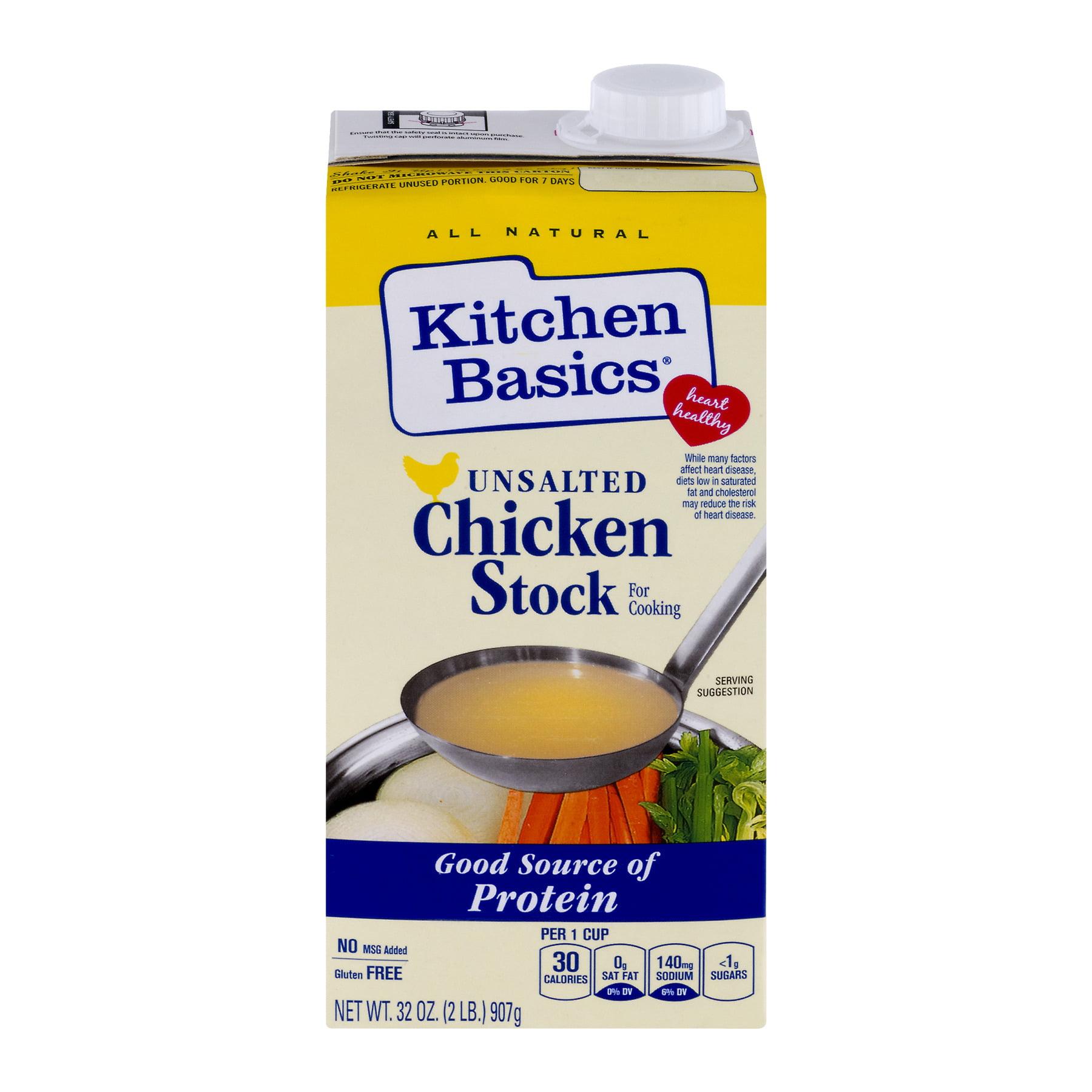 Kitchen Basics® All Natural Unsalted Chicken Stock, 32 oz