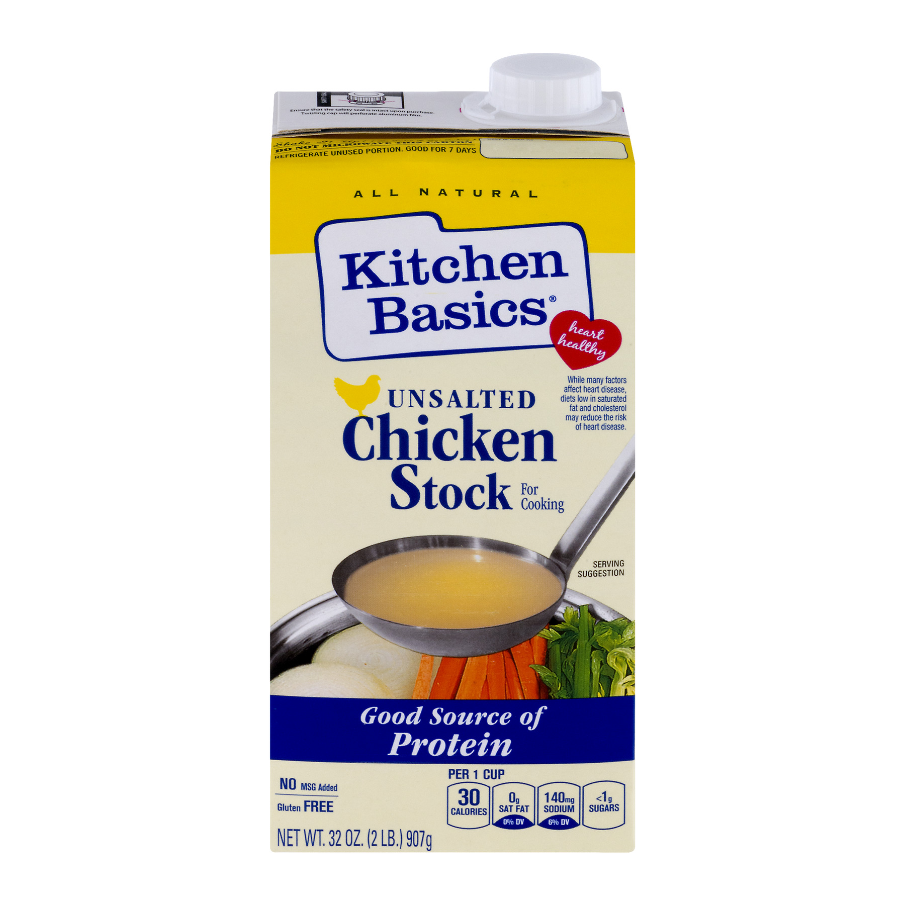 Kitchen Basics® All Natural Unsalted Chicken Stock, 32 oz