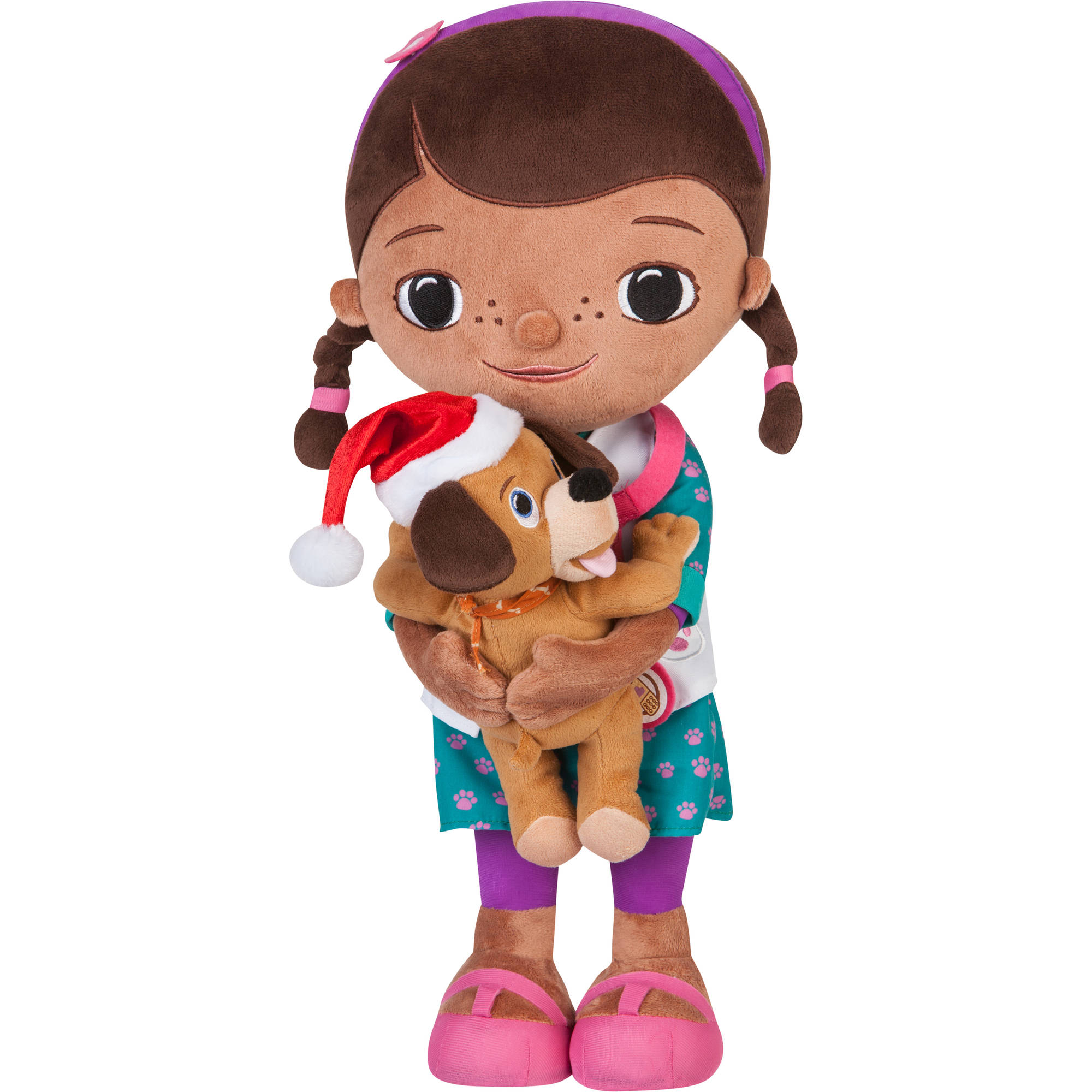 "Disney 21"" Doc McStuffins Plush Christmas Greeter"