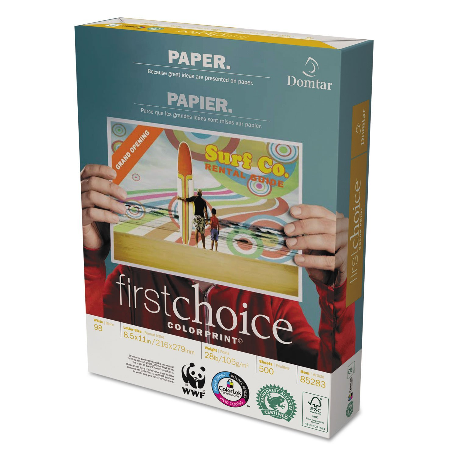 "Brand New  First Choice Copy Paper - Letter - 8.50"" x 11"" - 28 lb - 500 / Ream - White, High-quality"