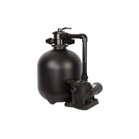 FlowXtreme Pro 22-in 300-lb Sand Filter System for In-Ground Pools with 2 SP 1.5 HP Pump and Multiport Valve – 5280 GPH Flow