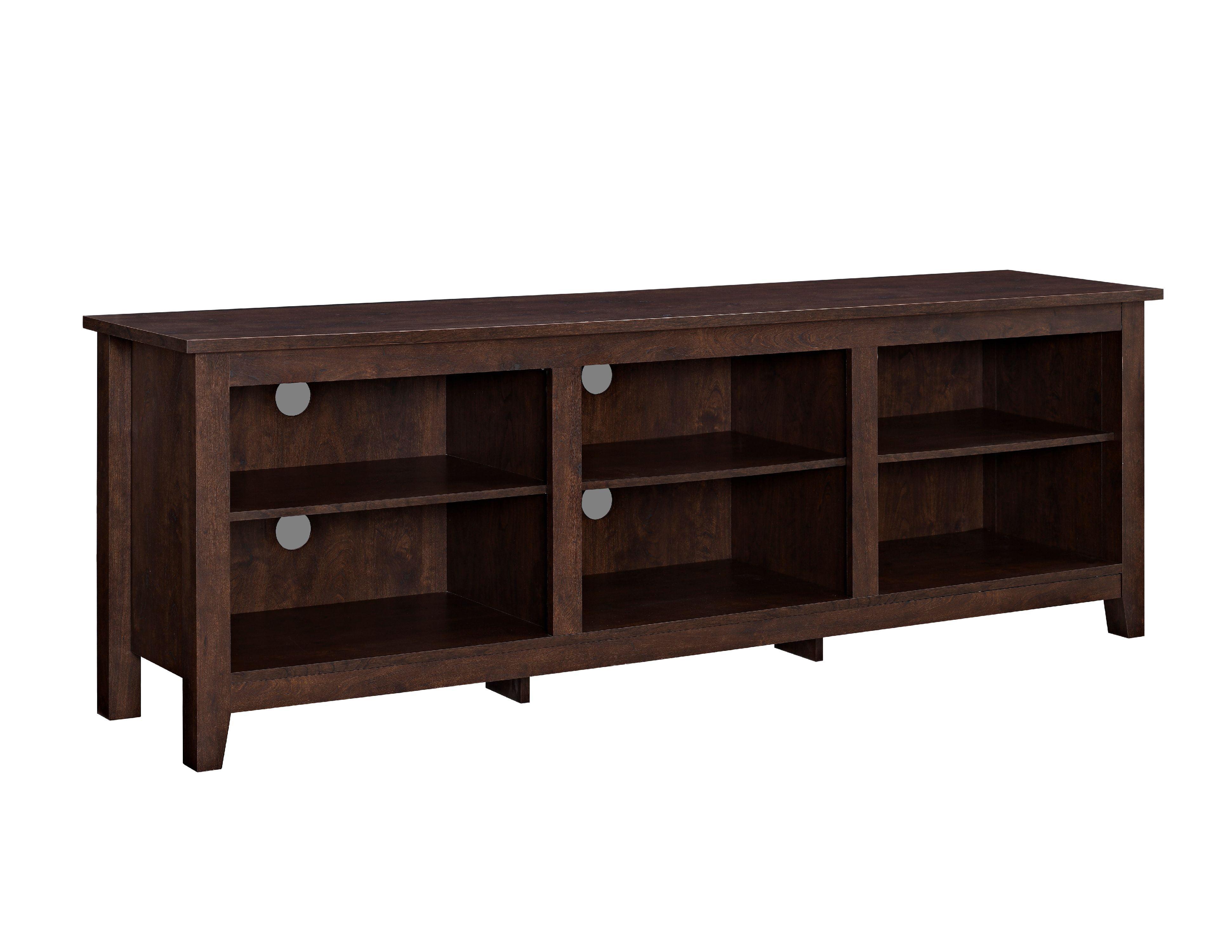 Dark Wood Tv Credenza : Walker edison wood tv media storage stand for s up to