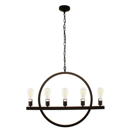 - CHLOE Lighting IRONCLAD Farmhouse 5 Light Oil Rubbed Bronze Ceiling Pendant 32