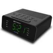 "Emerson SmartSet Alarm Clock Radio with AM/FM Radio, Dimmer, Sleep Timer and .9"" LED Display, CKS1900"