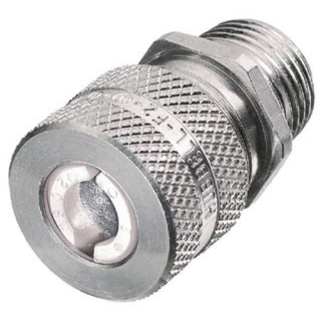 "Hubbell SHC1017 Kellems Wire Management Cord Connectors, Straight Male, Aluminum, 1/2"" Hub, 0.31-0.38"" Diameter"