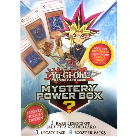 Yugioh 2018 Holiday Mystery Box- Featuring Legend of Blue Eyes White Dragon | Factory Sealed Packs | Hot Box with Vintage Card (Yugioh Blue Eyes White Dragon Deck Build)