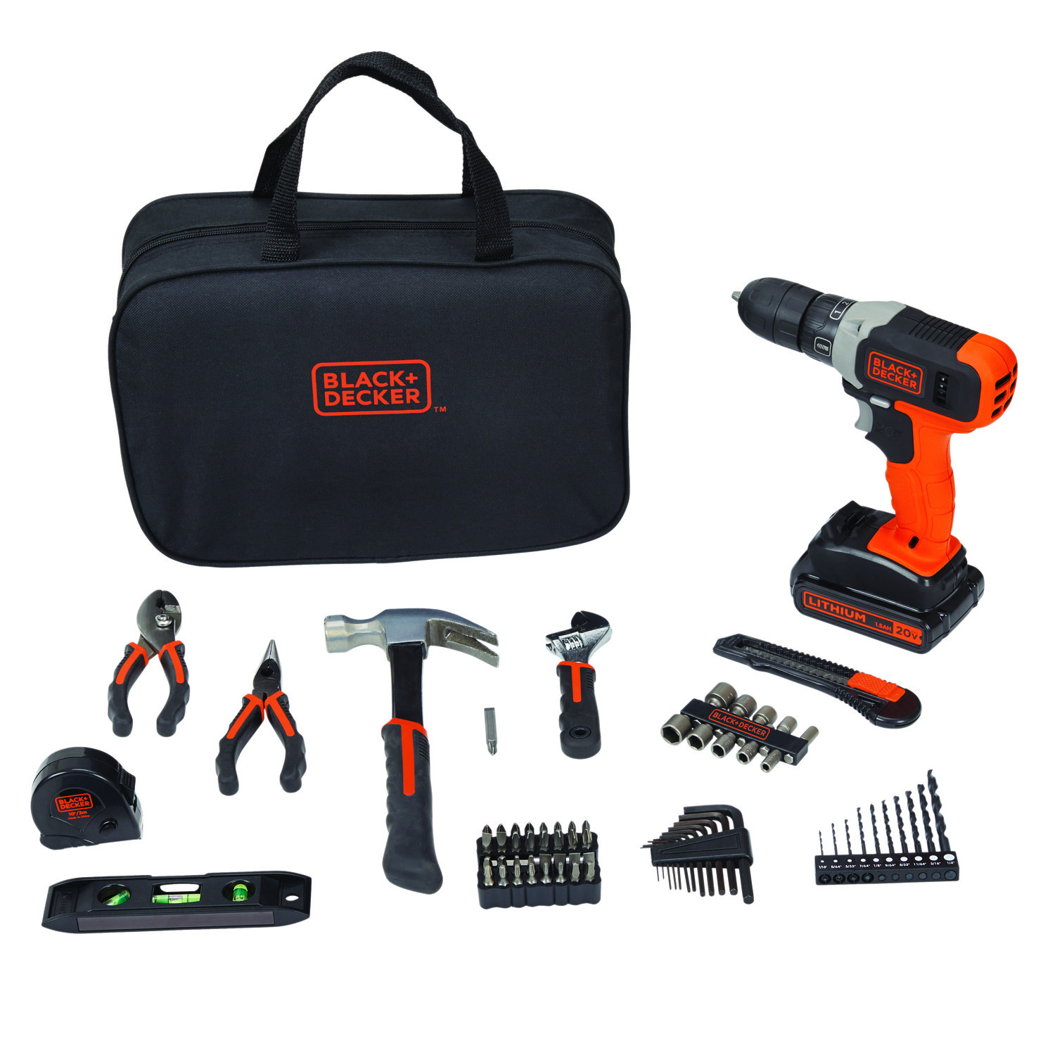 Black + Decker 20-volt Max 75-Piece Project Kit