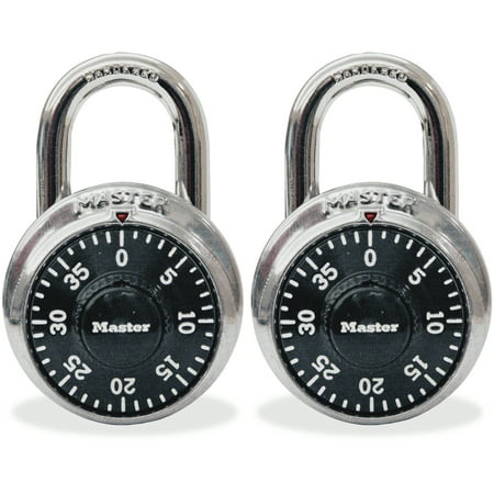 Master Lock, MLK1500T, Twin Combination Locks, 2 / Pack, (Abus Combination Locks)