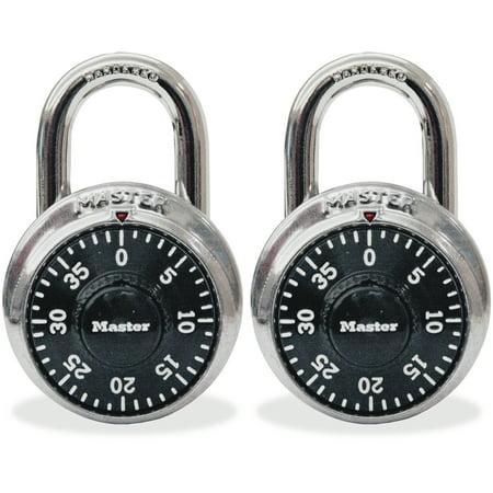 Master Lock, MLK1500T, Twin Combination Locks, 2 / Pack, Black