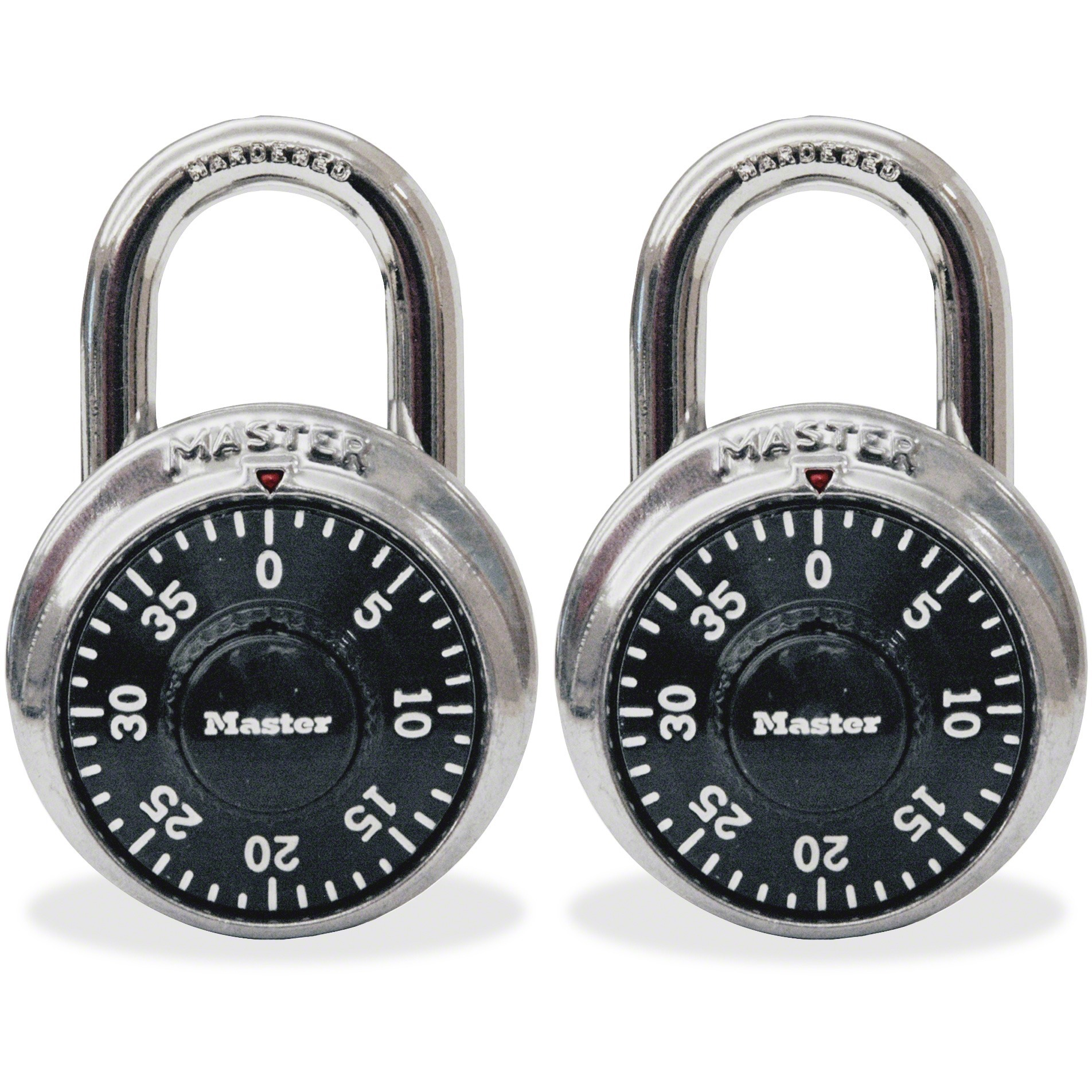 Master Lock, MLK1500T, Twin Combination Locks, 2 / Pack, Black