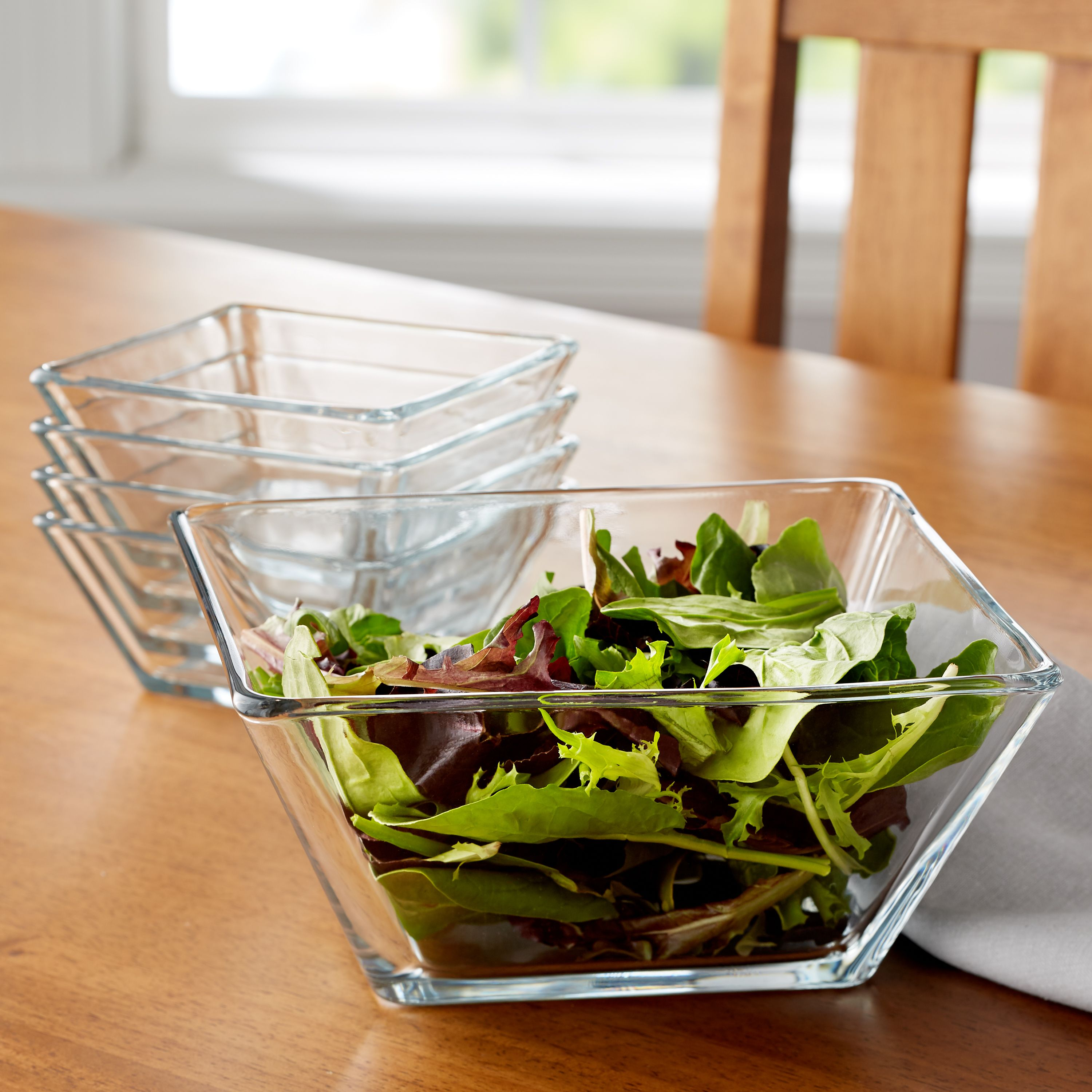 Mainstays 5-Piece Square Glass Serving Bowl Set by Libbey