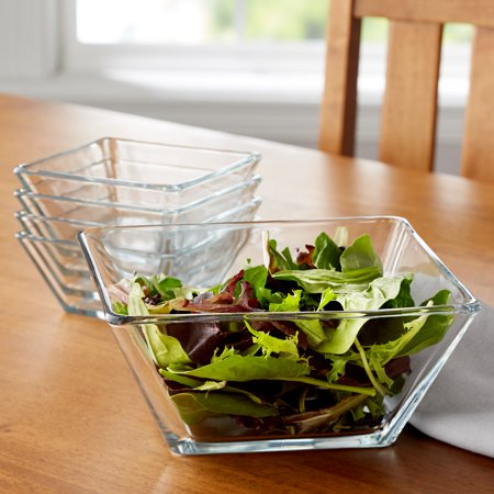 Mainstays 5-Piece Square Glass Serving Bowl Set](Large Plastic Serving Bowl)