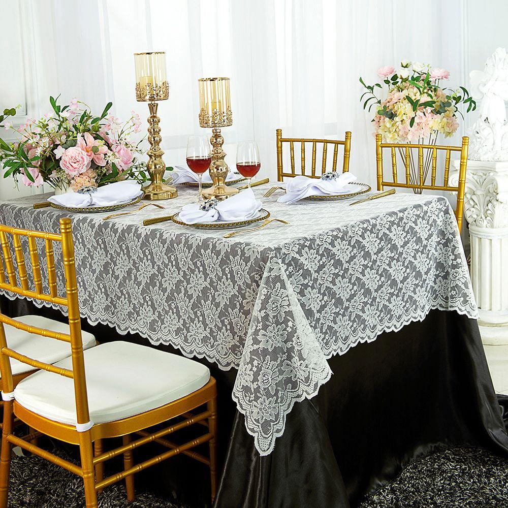 "1 pc 72/""x72/"" Square Cloth Fabric Linen Tablecloth Ivory Wedding cj"