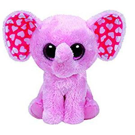 Elephant Sugar - TY Beanie Boos - Sugar the Pink Elephant (Glitter Eyes) Small 6