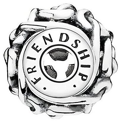 FRIENDSHIP ESSENCE COLLECTION charm in Silver - (Prairie Charm Collection)