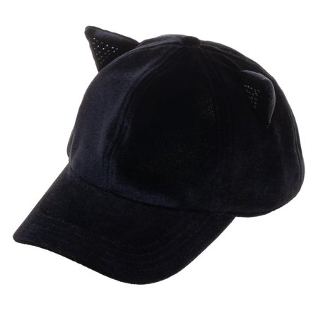 Hat - Sequin Cat Ear Faux Suede Cap New Licensed ba6nkmplw ()