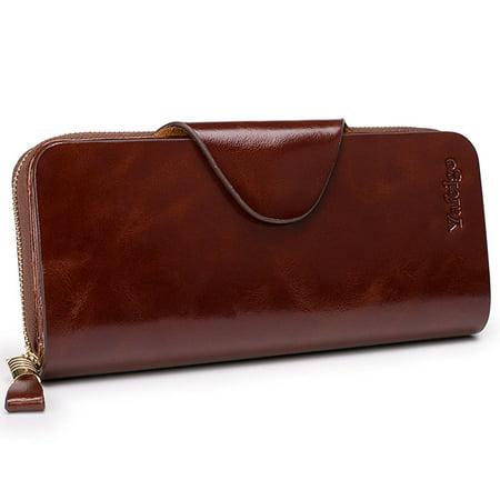 5fdbf78eb9d Yafeige - Large Luxury Women's RFID Blocking Tri-fold Leather Wallet ...